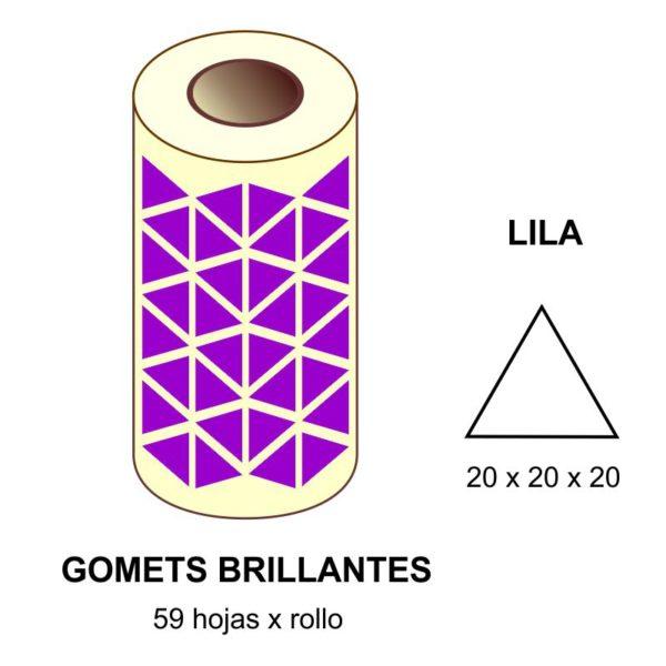 GOMETS LILAS EN ESTUCHE 20 x 20 x 20 MM