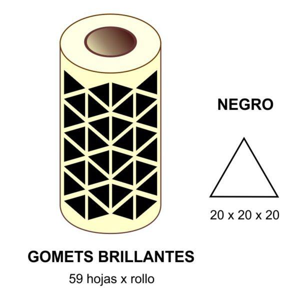 GOMETS NEGROS EN ESTUCHE 20 x 20 x 20 MM