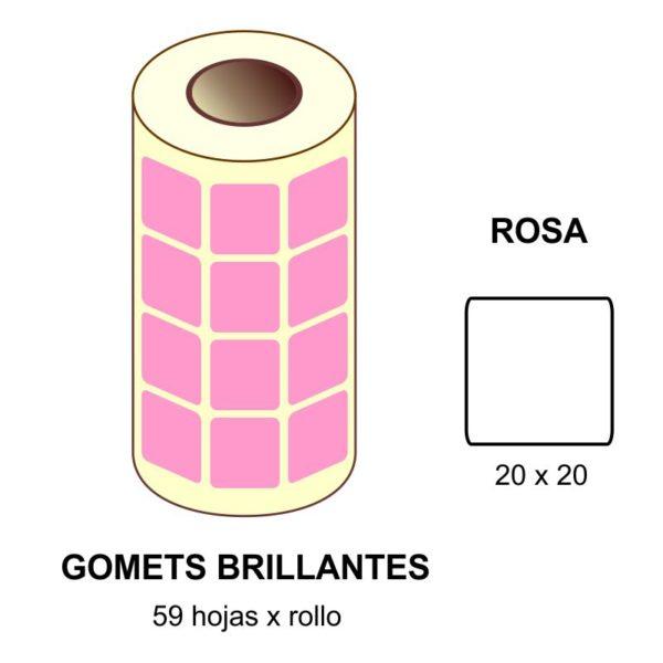 GOMETS ROSAS EN ESTUCHE 20 x 20 MM