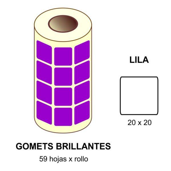 GOMETS LILAS EN ESTUCHE 20 x 20 MM