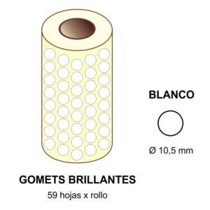 GOMETS BLANCOS EN ESTUCHE Ø 10,5 mm