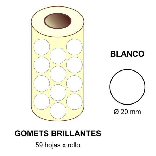 GOMETS BLANCOS EN ESTUCHE Ø 20 MM