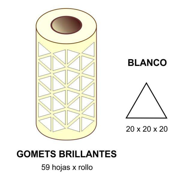 GOMETS BLANCOS EN ESTUCHE 20 x 20 x 20 MM