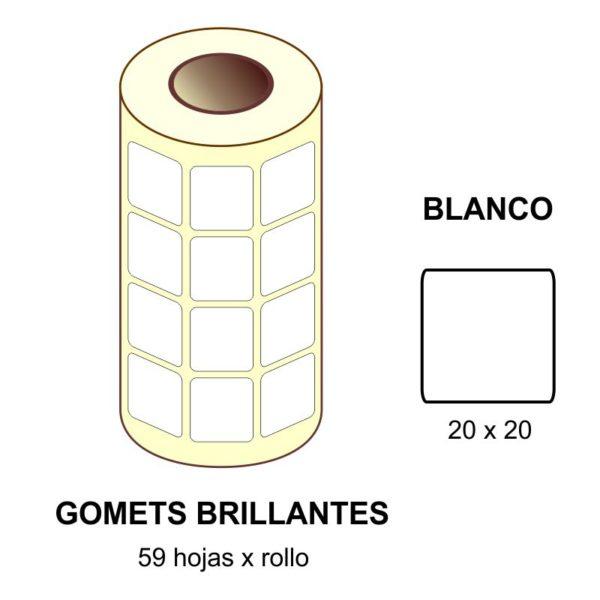 GOMETS BLANCOS EN ESTUCHE 20 x 20 MM