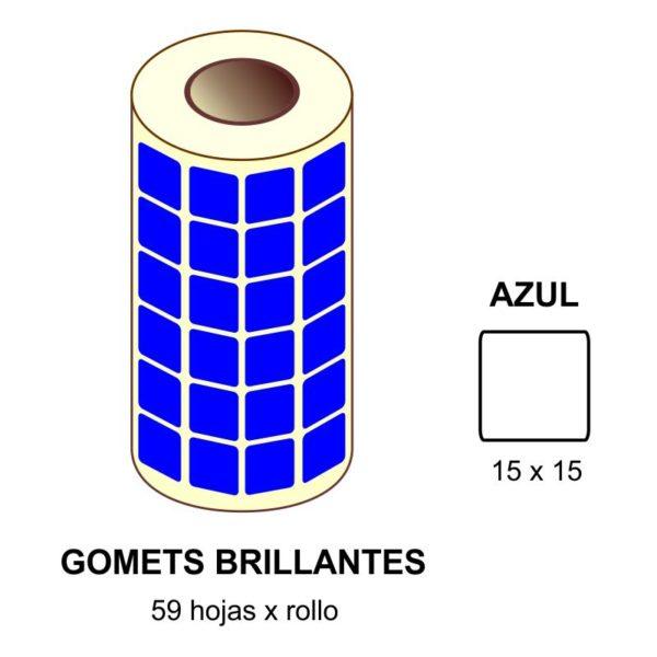 GOMETS AZULES EN ESTUCHE 15 x 15 MM