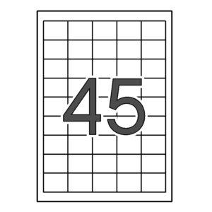 SINEL 38,1 x 29,6 Etiquetas blancas cantos rectos 1.000 hojas