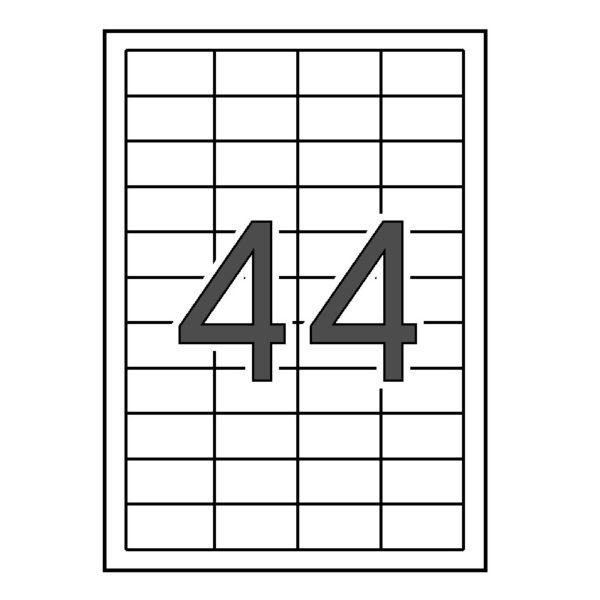 SINEL 48,5 x 25,4 Etiquetas blancas cantos rectos 1.000 hojas