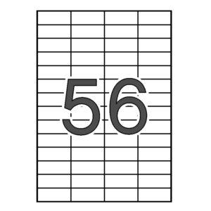 SINEL 52,5 x 21,2 Etiquetas blancas cantos rectos 1.000 hojas