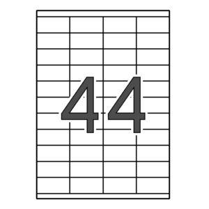 SINEL 52,5 x 25,4 Etiquetas blancas cantos rectos 1.000 hojas