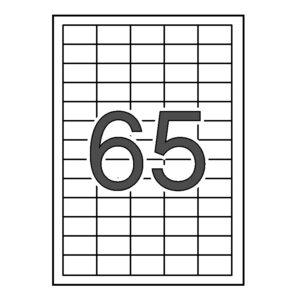 SINEL 38 x 21,2 Etiquetas blancas cantos rectos 1.000 hojas