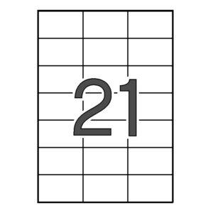 SINEL 70 x 42,3 Etiquetas blancas cantos rectos 1.000 hojas