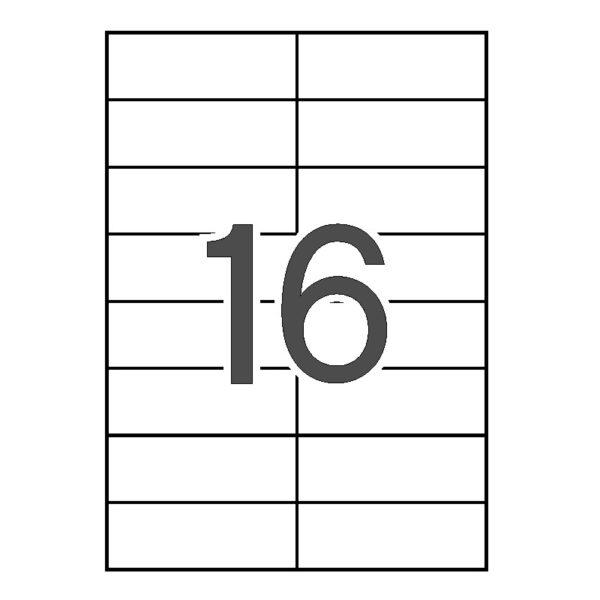 APLI 105 x 37 Etiquetas blancas cantos rectos 10 hojas