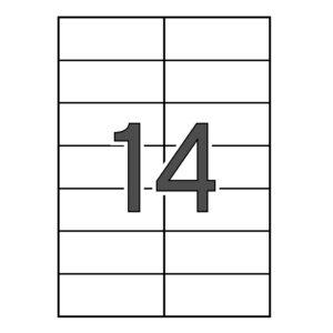 SINEL 105 x 42,3 Etiquetas blancas cantos rectos 1.000 hojas
