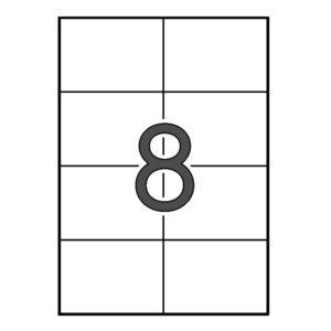 APLI 105 x 74 Etiquetas blancas cantos rectos 10 HOJAS