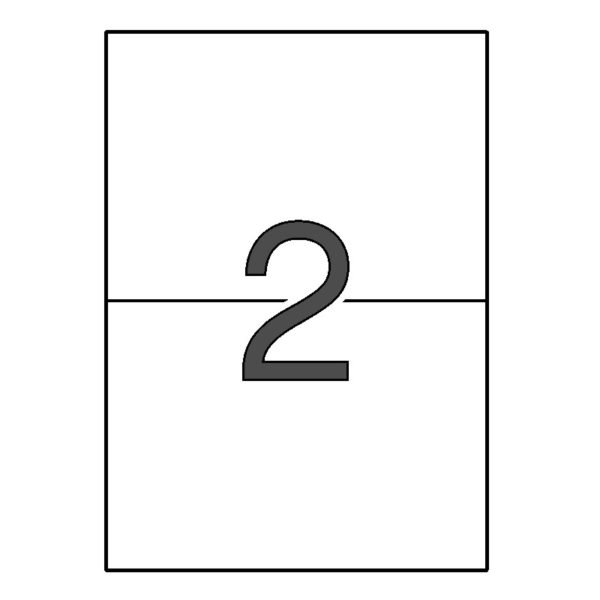 APLI 210 x 148,1 Etiquetas blancas cantos rectos 10 hojas