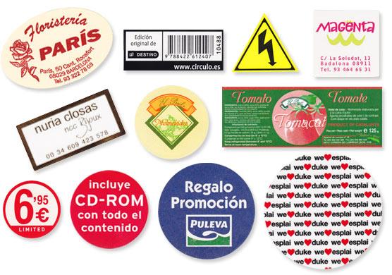 Servicio de impresion de etiquetas personalizadas