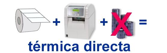 Impresión térmica directa