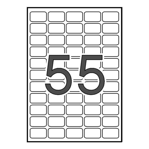 Etiquetas adhesivas Comptec 36,8 x 23,8 blancas - permanente