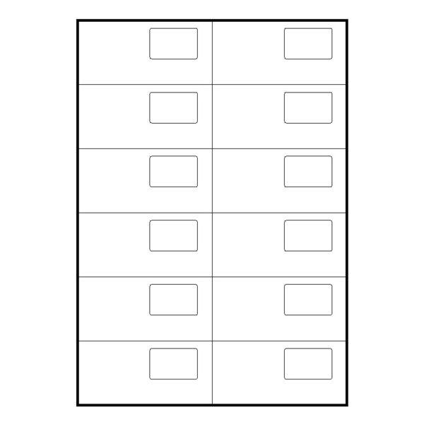 Etiquetas adhesivas doble soporte SINEL105 x 50 y 34 x 24 blancas