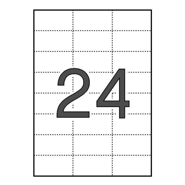 Etiquetas cartulina Comptec 70 x 37 blancas – 500 hojas