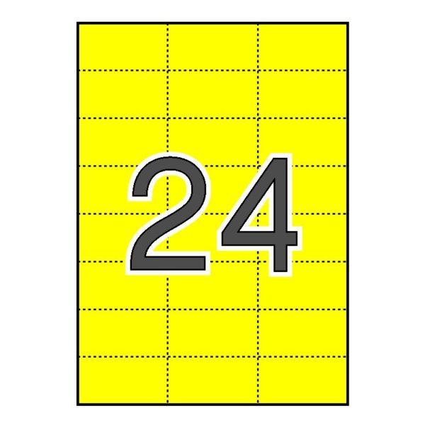 Etiquetas cartulina Comptec 70 x 37 amarillas mate – 500 hojas