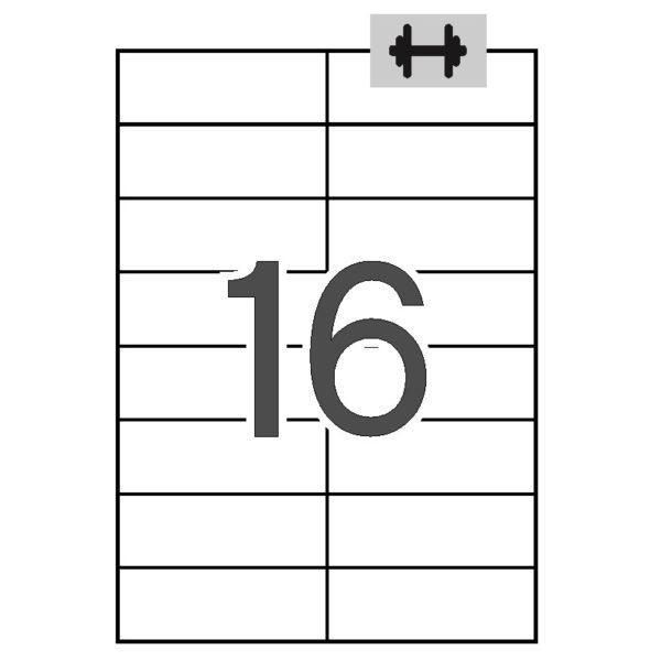 APLI 105 x 37 Etiquetas blancas cantos rectos 100 hojas ahesivo extra-fuerte (logística)