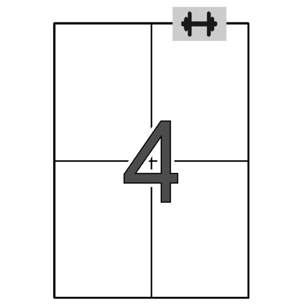 APLI 105 x 148 Etiquetas blancas cantos rectos 100 hojas ahesivo extra-fuerte (logística)