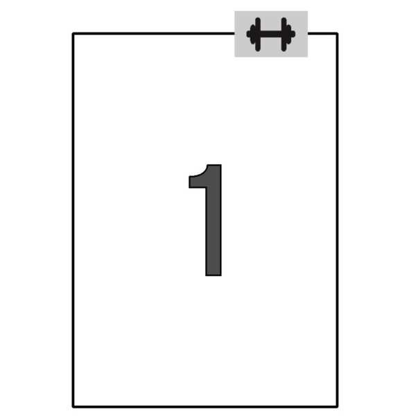 APLI 210 x 297 Etiquetas blancas cantos rectos 100 hojas ahesivo extra-fuerte (logística)