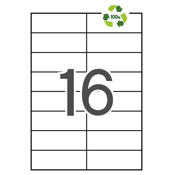 APLI 105 x 37 Etiquetas blancas cantos rectos 100 hojas recicladas