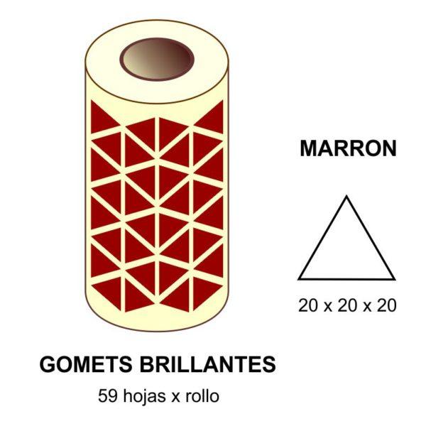 GOMETS MARRONES TRIANGULARES EN ESTUCHE 20 x 20 x 20 MM