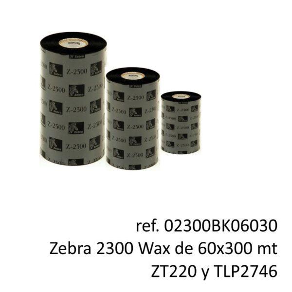 ribbon zebra 02300BK06030