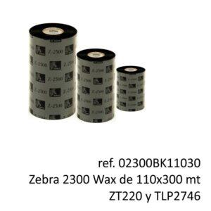ribbon zebra 02300BK11030