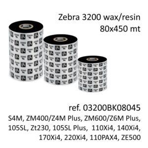 ribbon zebra 03200BK08045
