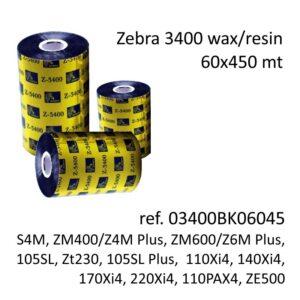 ribbon zebra 03400BK06045