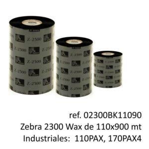 ribbon zebra 02300BK11090