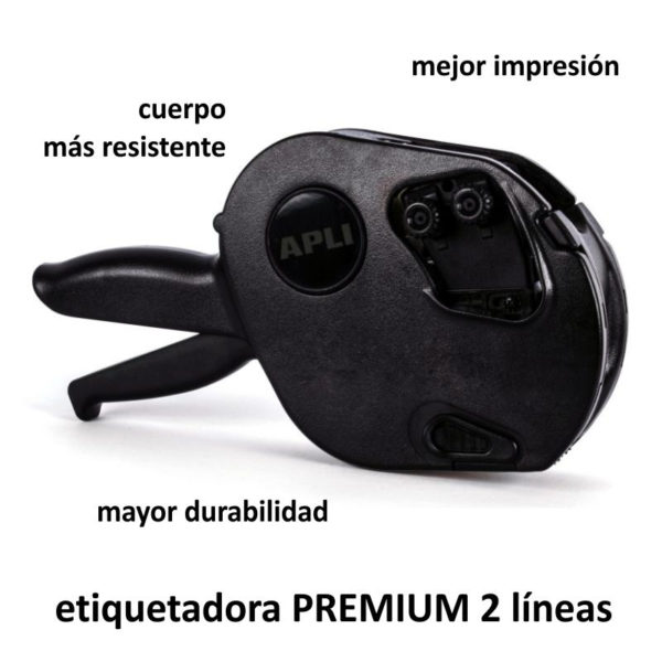 ETIQUETADORA PRECIOS MANUAL 2 líneas 10 caracteres APLI