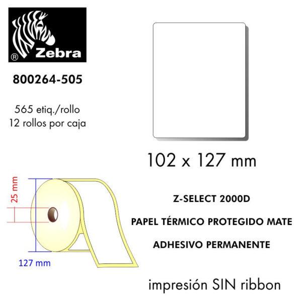 etiquetas rollo ZEBRA 800264-505