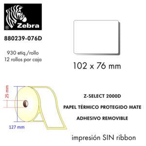 etiqueta rollo ZEBRA 880239-076D