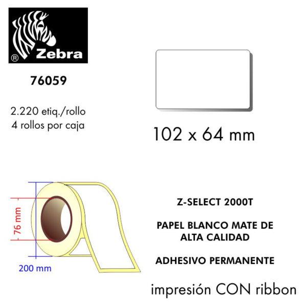 etiqueta rollo ZEBRA 76059