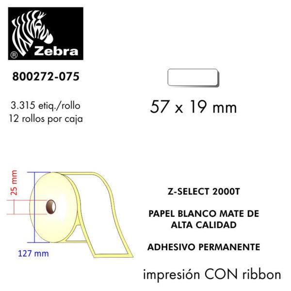etiquetas rollo zebra 800272-075