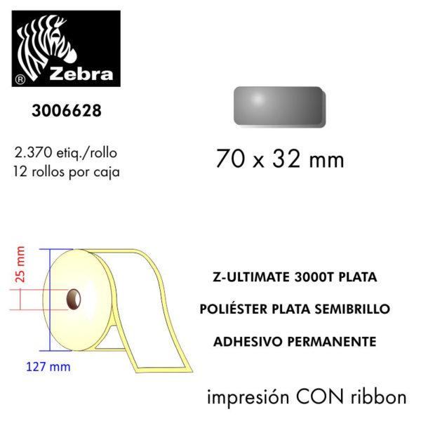 etiquetas rollo zebra 3006628