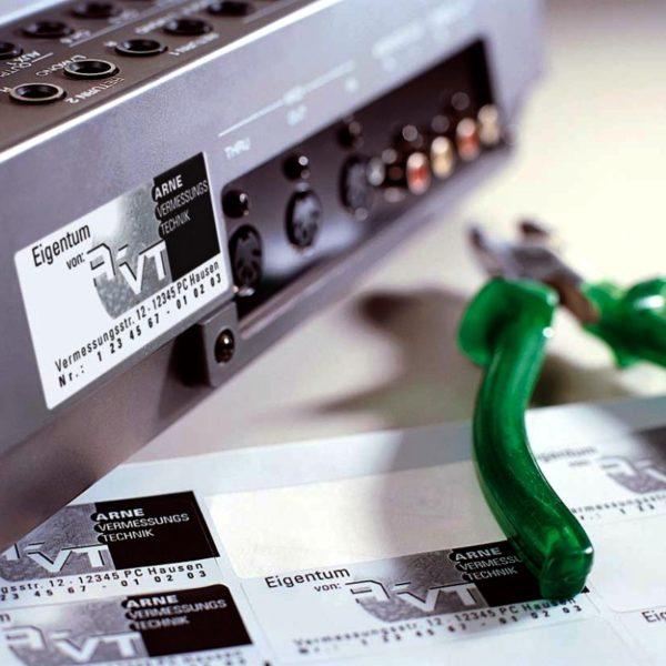 Ideales para identificar PC, aparatos electrónicos, máquinas y bienes.